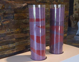 colored gravel - red - dekorativni kamen
